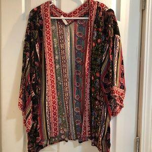 Open front, 3/4 sleeve cardigan. EUC, size XL/XXL